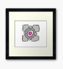 Companion Cube - Portal Framed Print