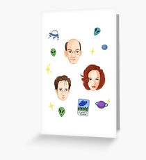 X Files - FBI Agents Greeting Card
