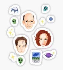 X Files - FBI Agents Sticker