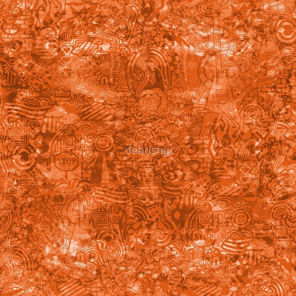 ironic chaos - (orange) by debrisnyc