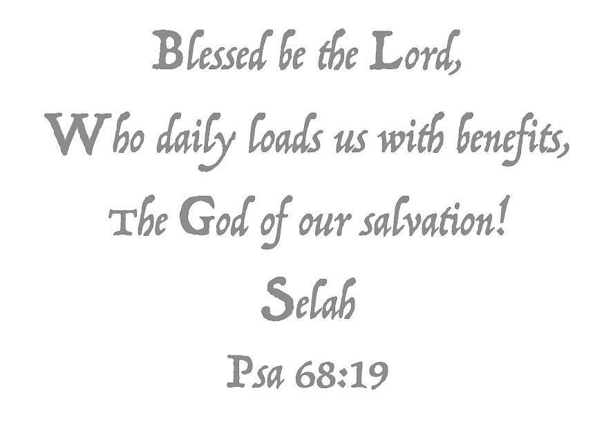 Psalms 68:19 by Thomas Olsen