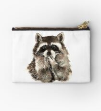Cute Raccoon Blowing Kisses Studio Pouch