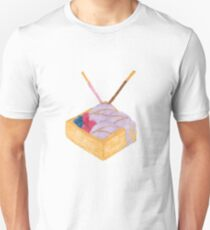 Taro Ice Cream in Waffle Bowl Unisex T-Shirt