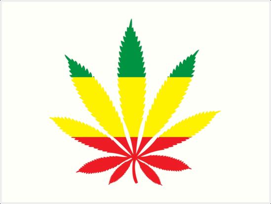 Rastafarian Marijuana Leaf\