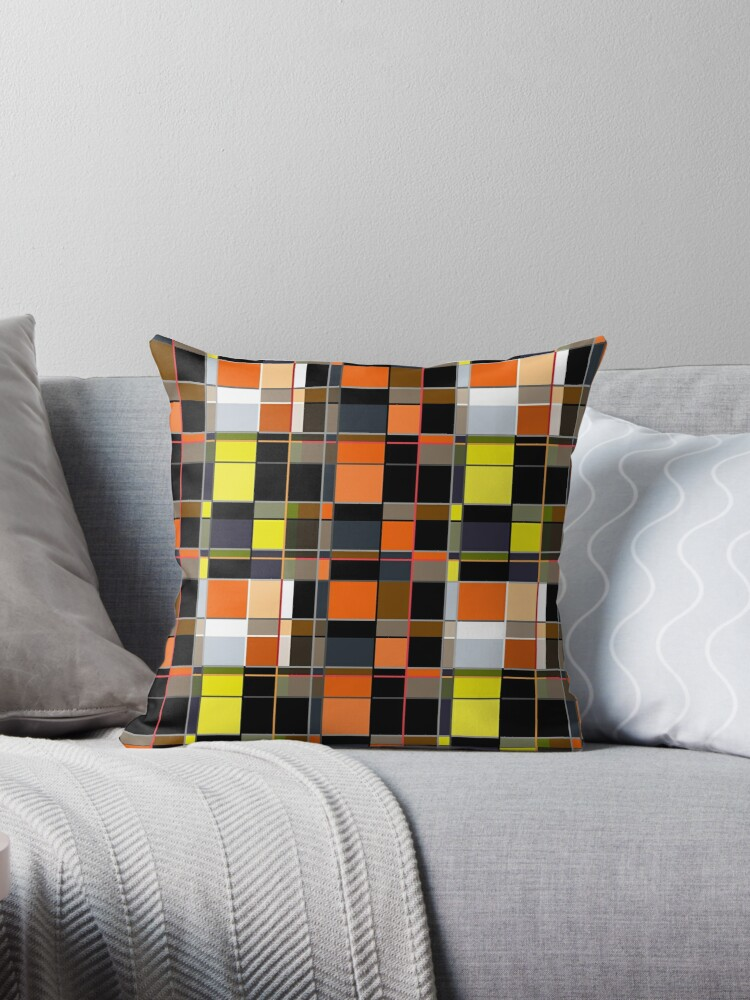An abstract geometric pattern. Orange , brown ,yellow-cage .  by fuzzyfox