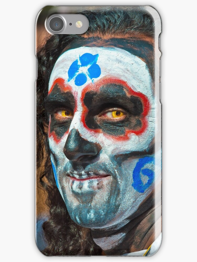 Painted face, day of the dead by Eyal Nahmias