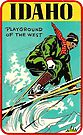 Idaho Playground of the West Vintage Travel Decal by hilda74