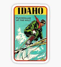Pegatina Parque de atracciones Idaho de la etiqueta de viaje del oeste del vintage