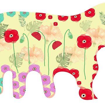Poppy elephant in vintage shades by Elbas