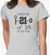 Catch Me If You Can (Blue) Womens Fitted T-Shirt