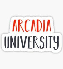 Pegatina Universidad de Arcadia