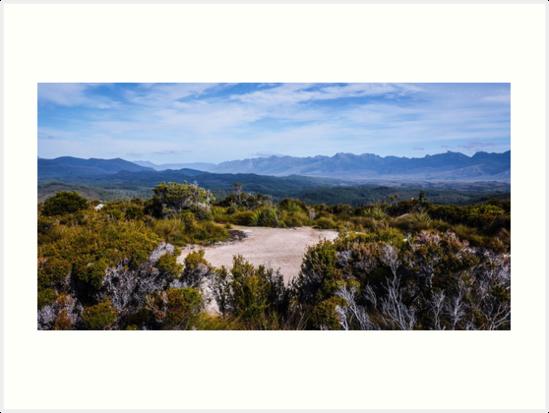 Blue Mountains - Lake Pedder, Tasmania by Lexa Harpell