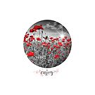 Graphic Art ENJOY | Field of Poppies - colorkey by Melanie Viola