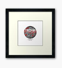 Graphic Art ENJOY   Field of Poppies - colorkey Framed Print