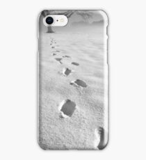 memory traces of a cold day - photograph iPhone Case/Skin