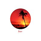 Graphic Art LOVE | Sunset by Melanie Viola