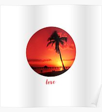 Graphic Art LOVE | Sunset Poster
