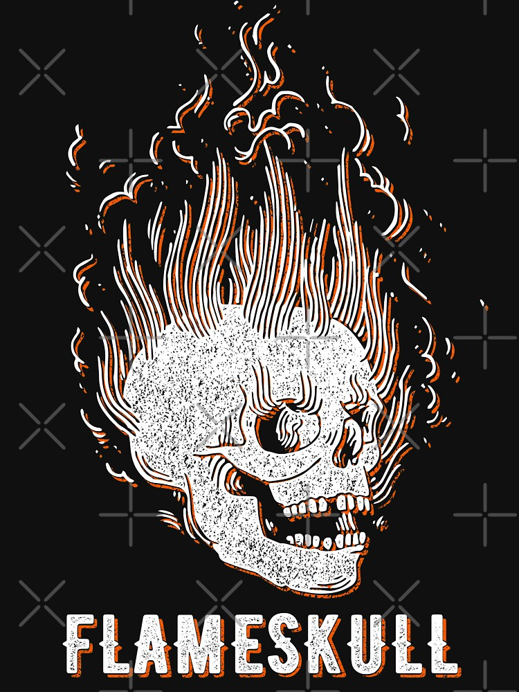 Spooky FlameSkull (orange vintage effect) by Doge21