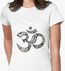 Om Sign Women's Fitted T-Shirt