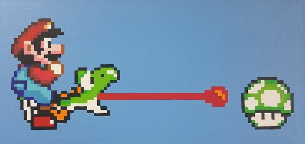 Super Mario World - Mario & Yoshi 1UP by Poisonfrost
