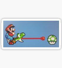 Super Mario World - Mario & Yoshi 1UP Sticker