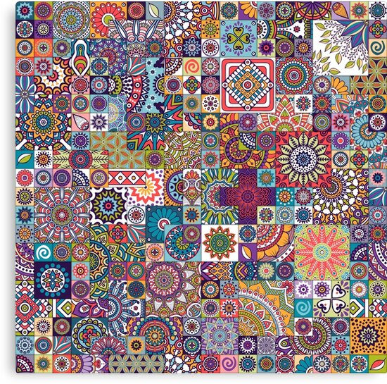 Moroccan tile with mandalas by ViSnezh