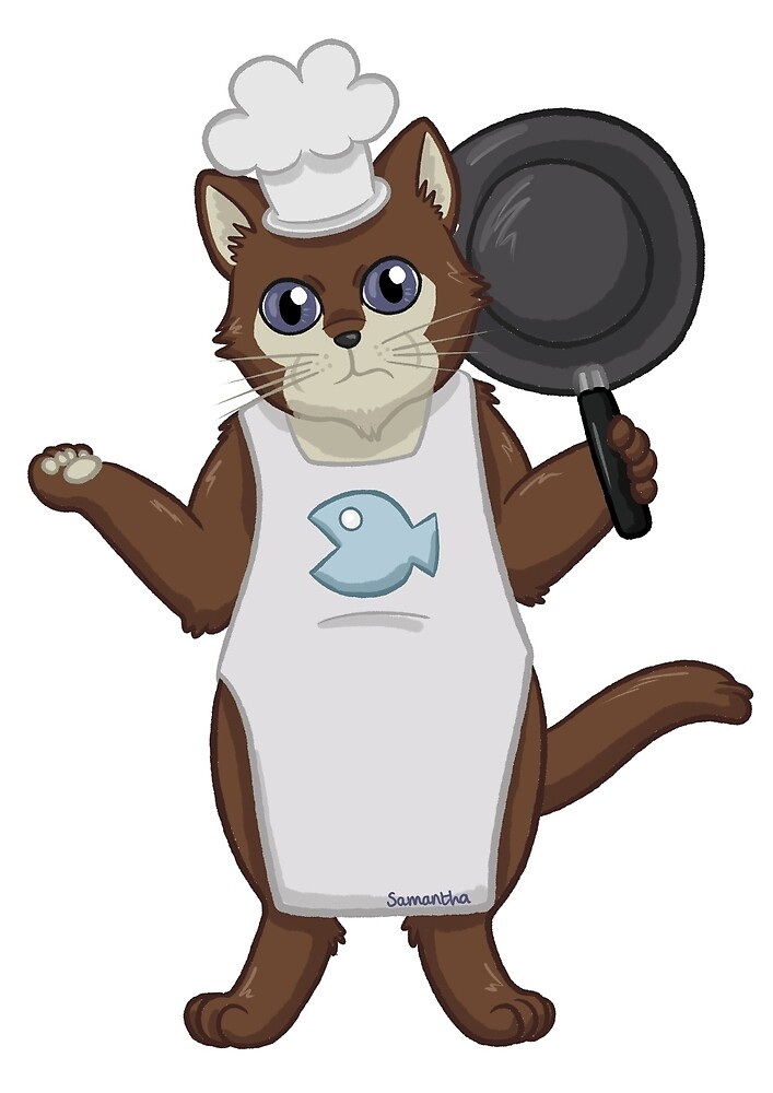 Chef Cat by Sandy--Apples