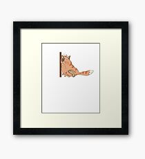 Sarcastic Meh design with funny cat, nice gift idea Framed Print