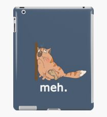 Sarcastic Meh design with funny cat, nice gift idea iPad Case/Skin