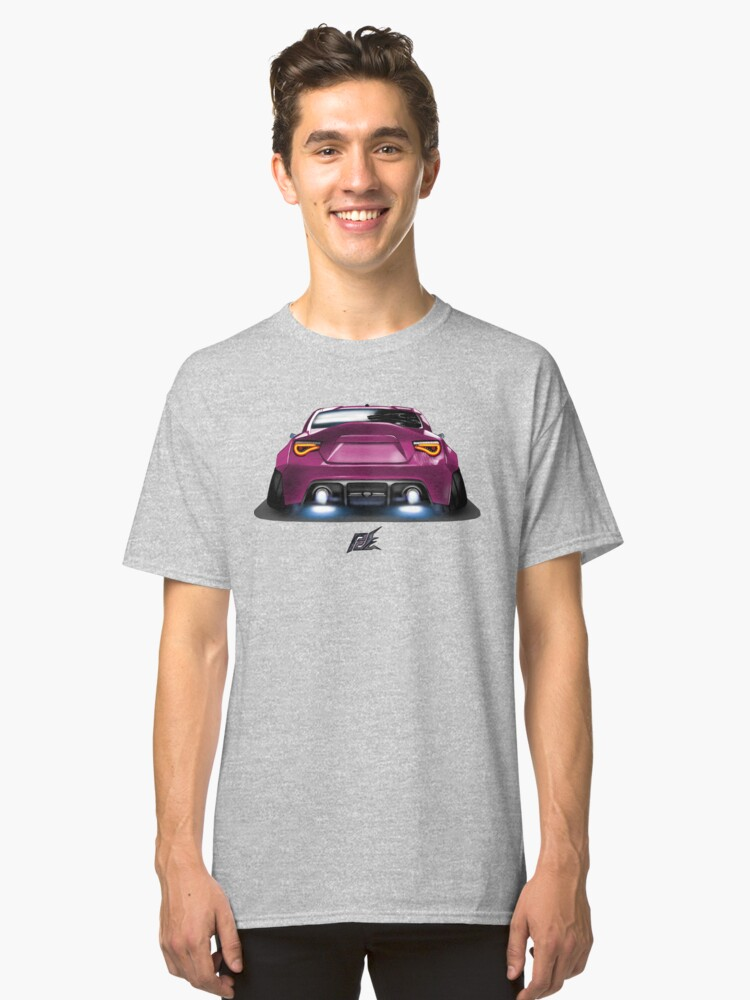 naquash design toyota gt86 with wide body purple rear end Classic T-Shirt Front
