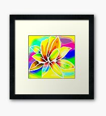 Caribbean Colorful Flowers Roses in Bright Vibrant Colors Framed Print