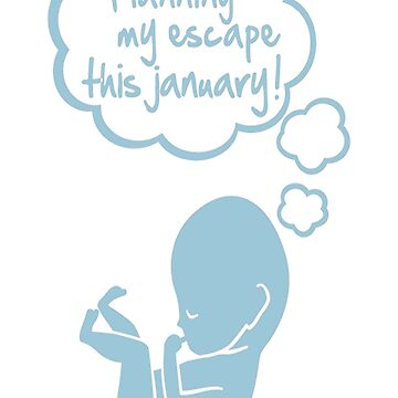 planning my escape this january T-Shirt by VivianDunn