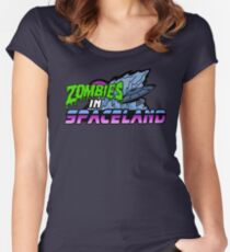 Zombies in Spaceland Women's Fitted Scoop T-Shirt