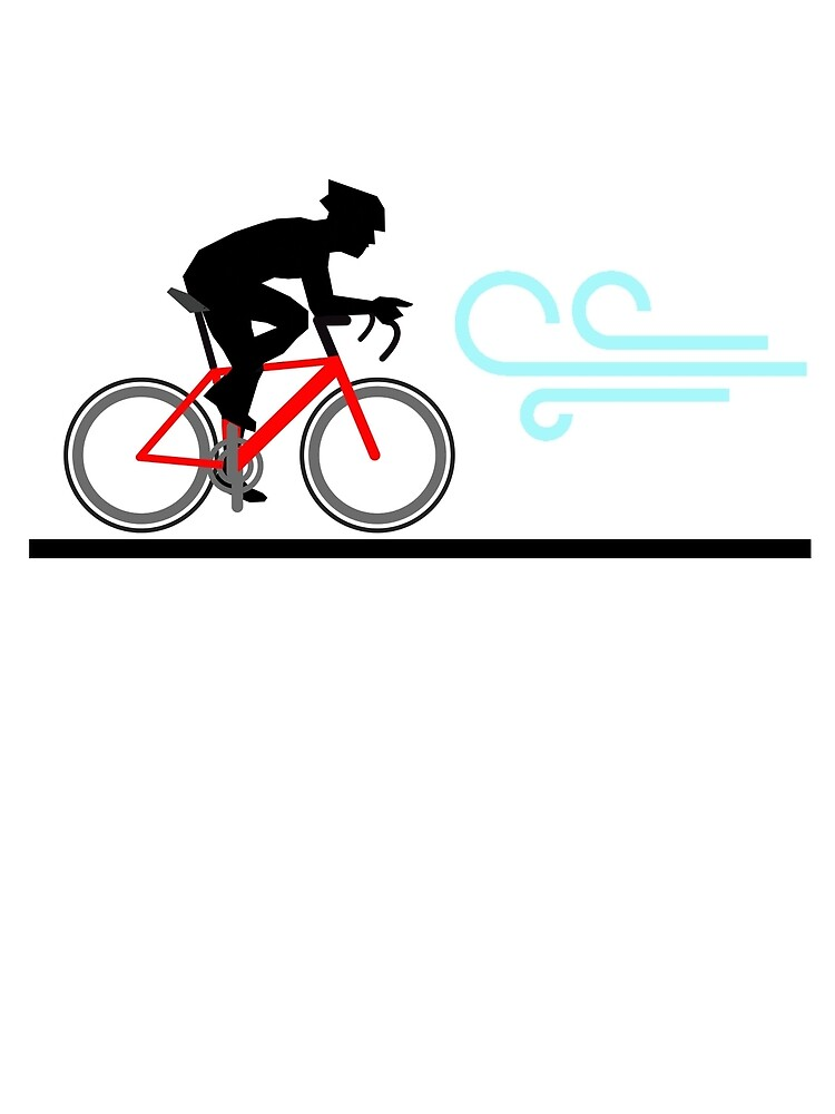 Cycling TShirt Riding into the wind by ZycleMania