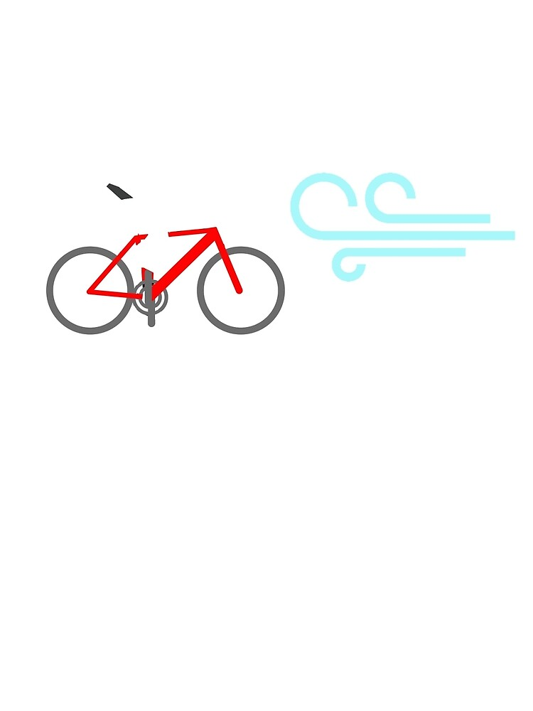Cycling TShirt Riding into the wind for darker colours by ZycleMania