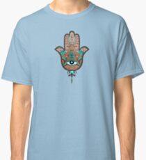 Shaman Mantra Sacred Hand Hamsa Hand of Miriam Classic T-Shirt