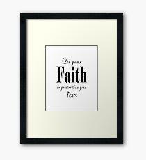 Faith Typography Framed Print