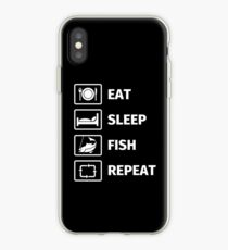 Eat, Sleep, Fish, Repeat iPhone-Hülle & Cover