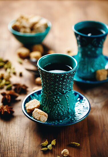 Tea or Hot Wine or Different Drink with Various Spices by dariazu