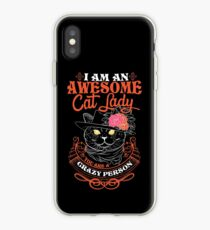 I am an Awesome Cat lady iPhone Case