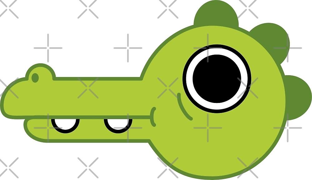 Crocodile with googly eye by vtardieu