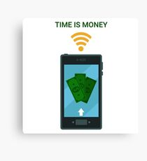 Mobile Payments or Mobile Banking. Electronic Money Canvas Print