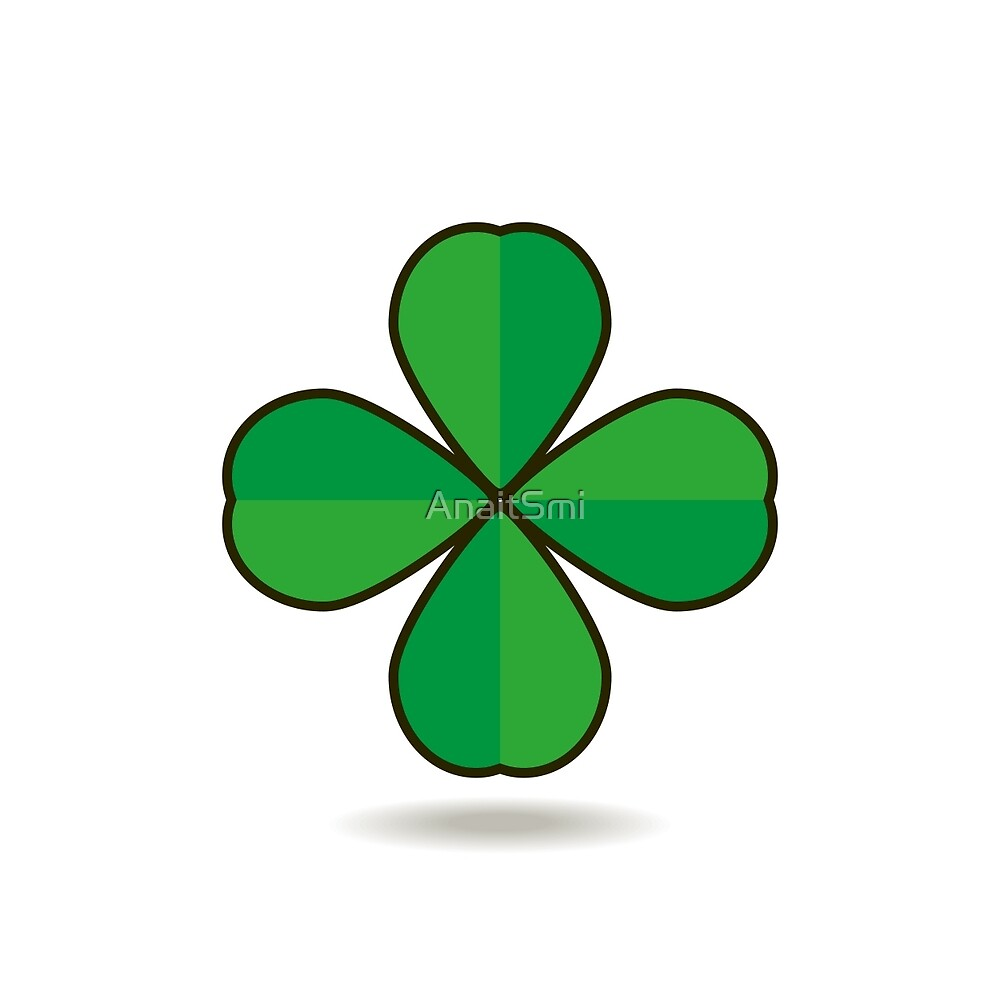Quatrefoil clover for good luck icon by AnaitSmi