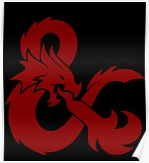 DnD logo (Red) Poster