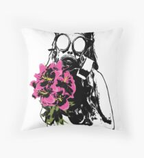Beautifully Toxic Graphic T-Shirt Throw Pillow