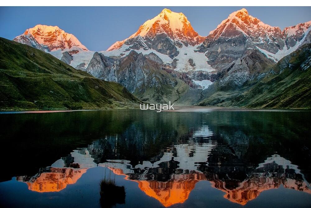 Reflection in Huayhuashg by wayak