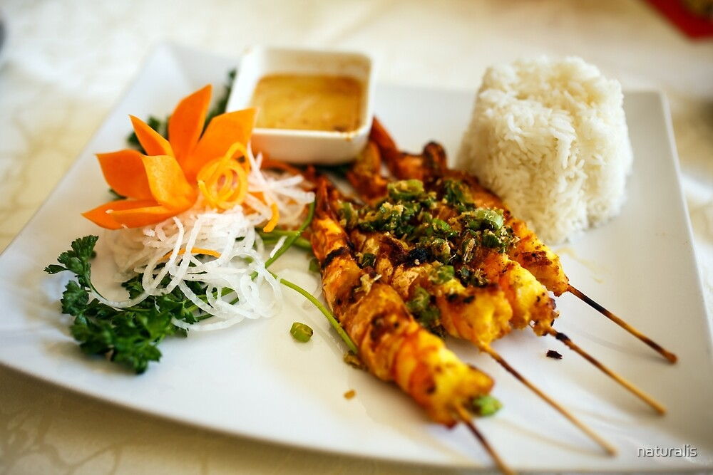 Vietnamese shrimp skewers by naturalis