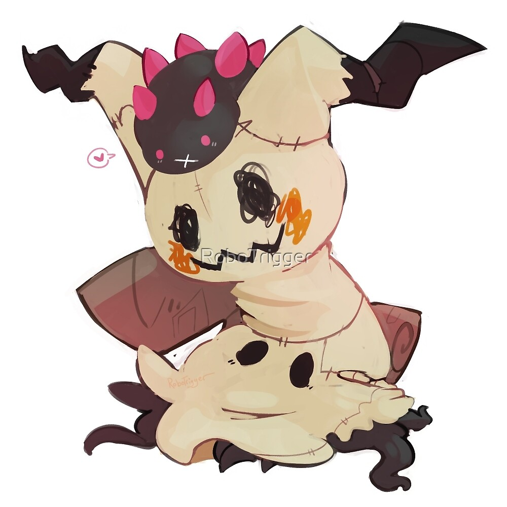 Pokemon: Pyukumuku and Mimikyu by RoboTrigger