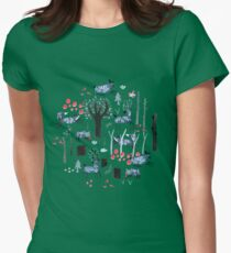 Frosted Forest Womens Fitted T-Shirt