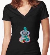 EARTH GODDESS Women's Fitted V-Neck T-Shirt